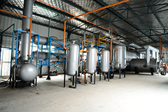 Semi continuous waste tyre(plastic)pyrolysis plant