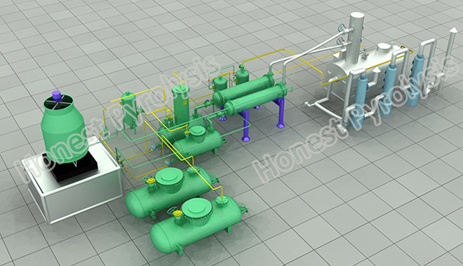 10 T oil distillation plant