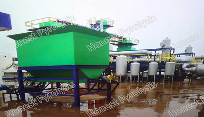 20 T batch type waste tyre(plastic) pyrolysis plant